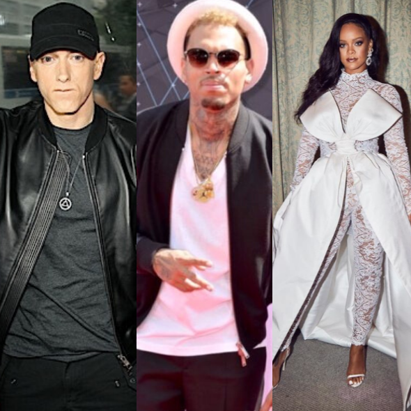 Eminem Defends Chris Brown Over Rihanna Domestic Violence Incident In Leaked Song 'I'd Beat A B**** Down Too' + Rapper's PR Speaks Out