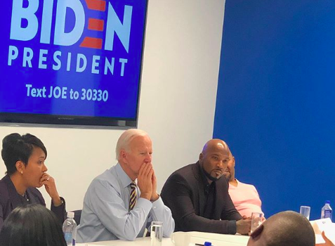 Joe Biden Meets With Jeezy & Atlanta Mayor Keisha Lance Bottoms Amid Campaign For President