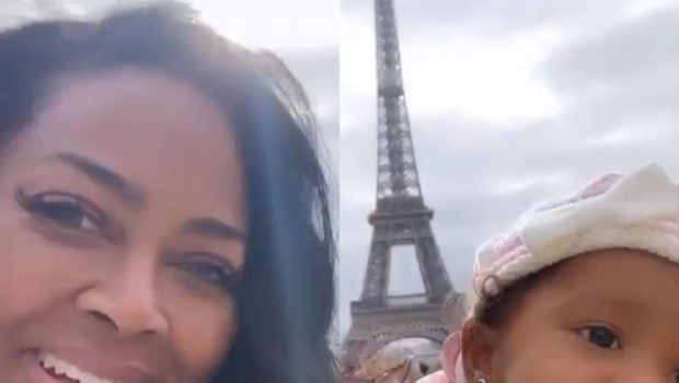 Kenya Moore Takes Daughter To Paris For Her 1st Birthday