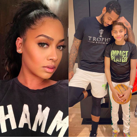 LaLa Anthony Says Son Will Miss His Dad Carmelo Anthony As He Signs With Portland Trail Blazers