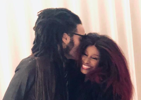 Lenny Kravitz Hugs Up With Chaka Khan In New Photo
