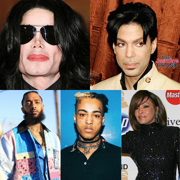 Michael Jackson, Prince, Nipsey Hussle, XXXTentacion, Whitney Houston & More Are Among Top-Earning Dead Celebrities Of 2019
