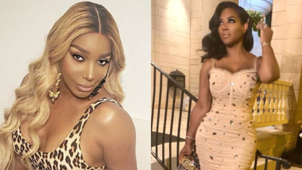NeNe Leakes Appears To Spit On 'RHOA' Co-Star Kenya Moore During Heated Screaming Match, Later Tweets: She Need To Be Spit On![WATCH]