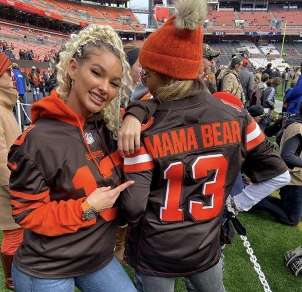 Odell Beckham Jr. & Lauren Wood Official? Model Poses With OBJ's Mom at Recent Game