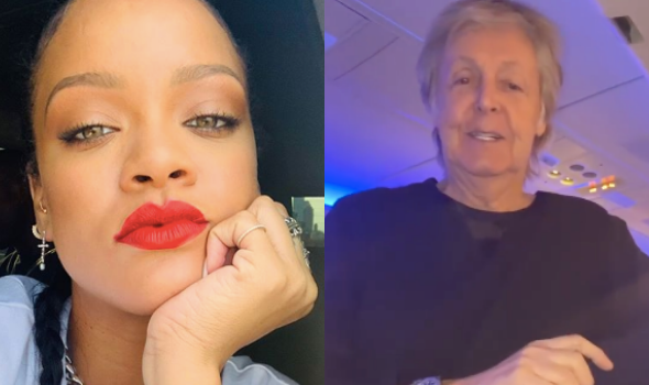 Rihanna Runs Into Paul McCartney On Her Flight, Jokes: Who Is This Peasant Filming This Legend?