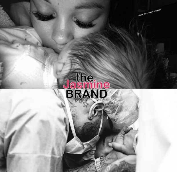 Chris Brown & Ammika Harris Share New Photos of Aeko Brown's Delivery [PHOTOS]