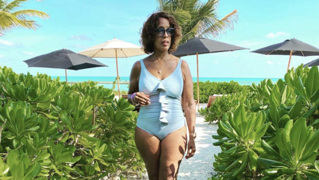 Gayle King Celebrates Her Cellulite Cottage Cheese Thighs On Vacay [Photo]