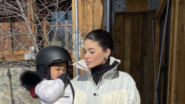 Kylie Jenner's Daughter Stormi Goes Snowboarding! [VIDEO]