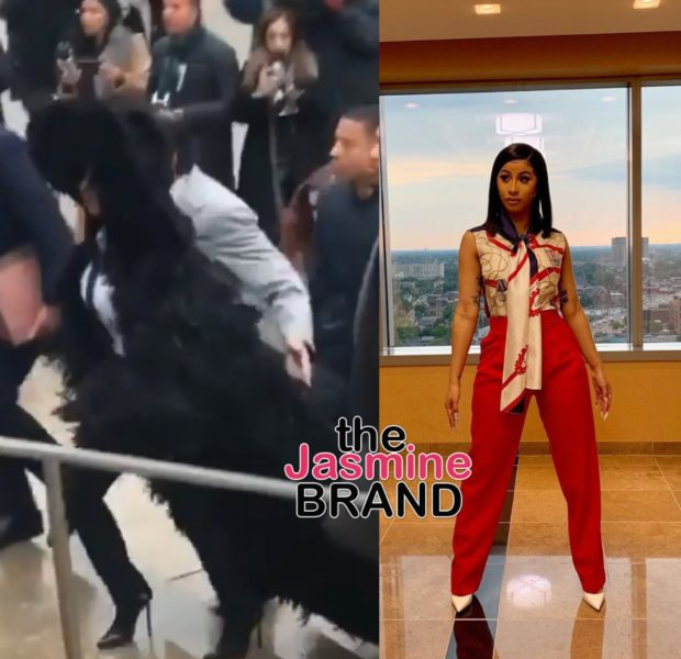 Cardi B Turns Heads During Court Appearance In Black, Feathery Coat [VIDEO]