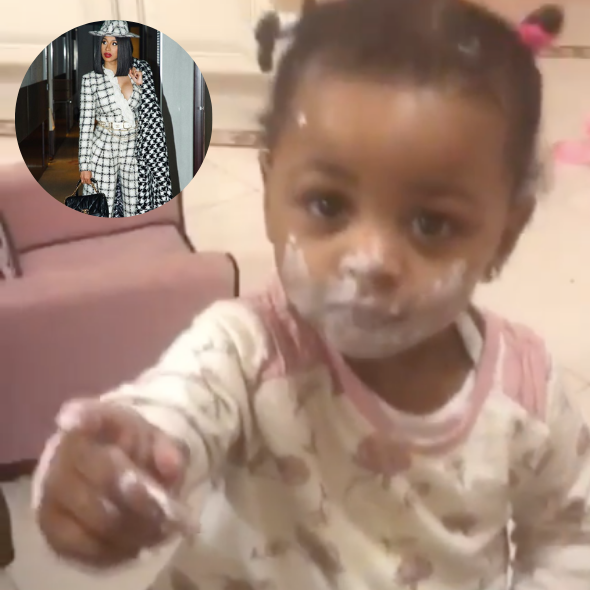 Cardi B Shares Hilarious Video Of Daughter Kulture Getting Into