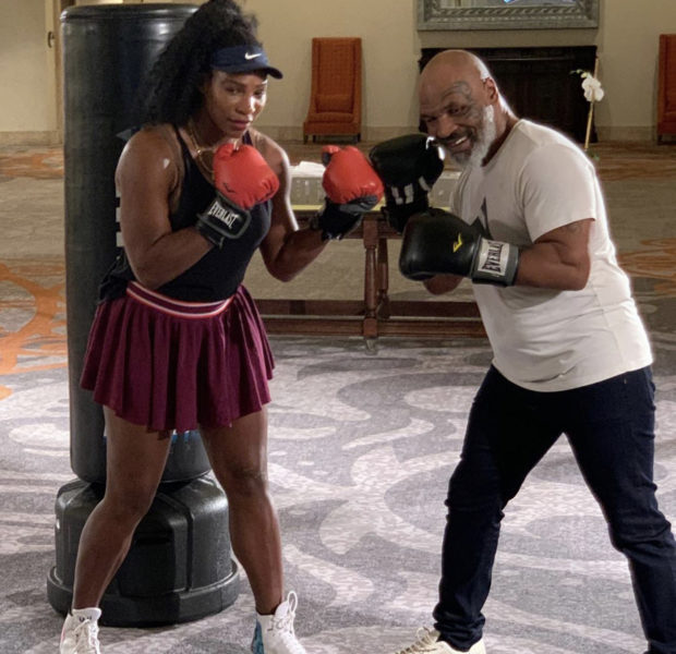 Mike Tyson Helps Train Serena Williams w/ Boxing Skills [VIDEO]