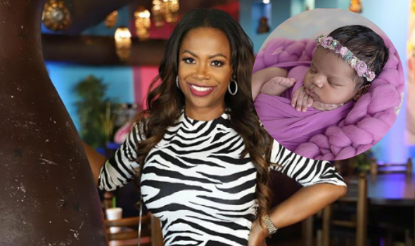 Kandi Burruss Shares First Photo Of Daughter Blaze's Face: I've Got Another Blessing To Love On!