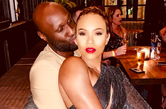 Lamar Odom & Fiancée Show Major PDA Moment While On Dinner Date: D*** Baby Taste Good