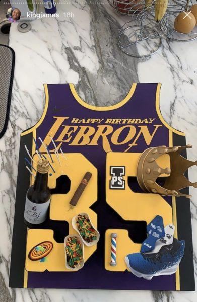 Brilliant Lebron James Celebrates His 35Th Birthday With Lakers Teammates Funny Birthday Cards Online Necthendildamsfinfo