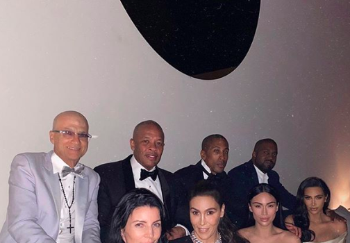 Kim Kardashian Gives Squad Goals w/ Dr. Dre, Kanye West, Naomi Campbell & More [PHOTOS]