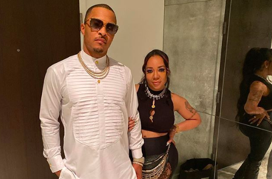 "T.I. Says ""Savages Only Understand Savagery, Take That How You Wanna"" As He Poses With Wife Tiny Harris"