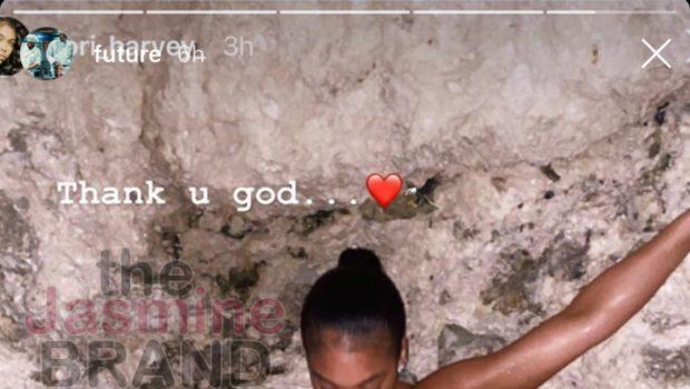 "Future Says ""Thank You U God"" As He Admires Girlfriend Lori Harvey's Body [PHOTOS]"