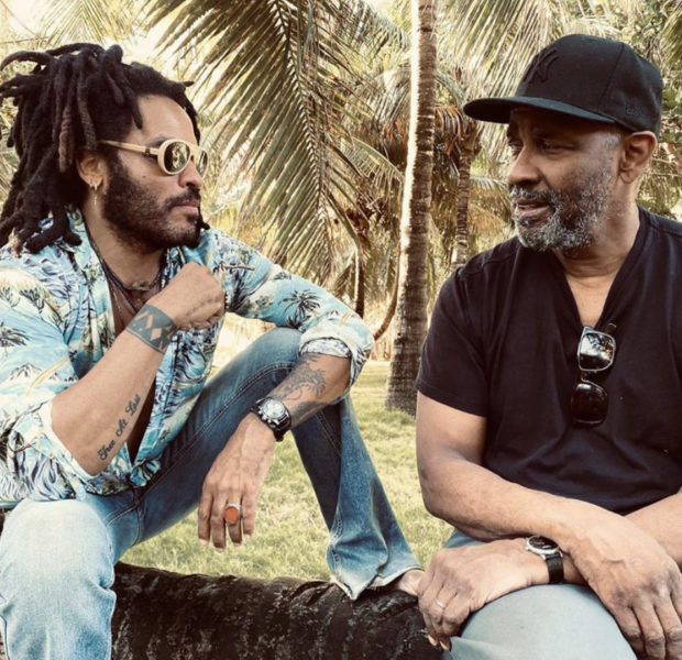 Lenny Kravitz Bonds With Actor Denzel Washington & His Sons Malcolm & John David Washington [PHOTOS]