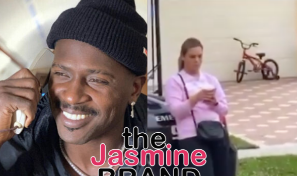 Antonio Brown Films Heated Dispute With Baby Mama Chelsie Kyriss, Accuses Her Of Trying To Steal His Bentley: Take Her Bum A** To Jail, She's A Fat, Stocky Santa Clause Looking B*tch! [VIDEO]