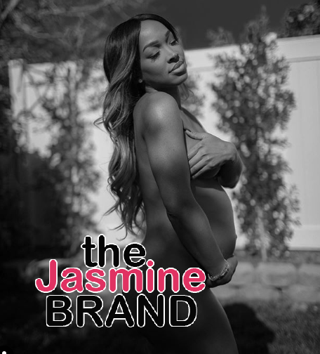 Malika Haqq Poses Naked With Her Baby Bump