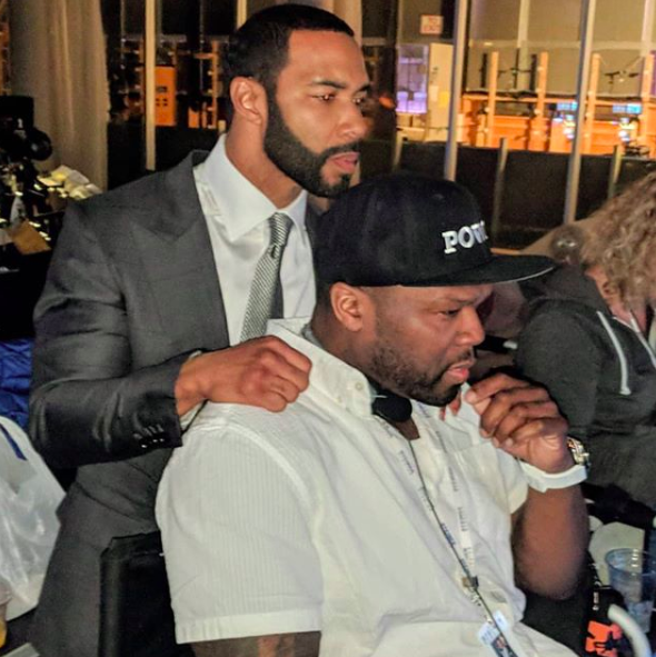 Omari Hardwick Kisses 50 Cent On The Cheek, Responds To Fan Who Suggests They're Gay: I Should Bust You In Your F***ing Nose!