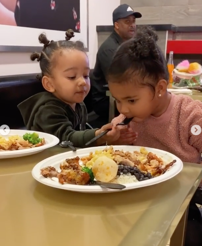 Kim Kardashian's Daughter Chicago West Sweetly Feeds Khloe Kardashian's Daughter True Thompson [Cousin Cuteness]