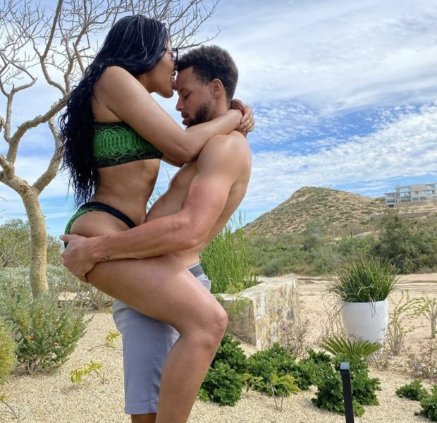 Ayesha Curry Licks & Straddles NBA Hubby Steph Curry On Romantic Vacation [Photo]