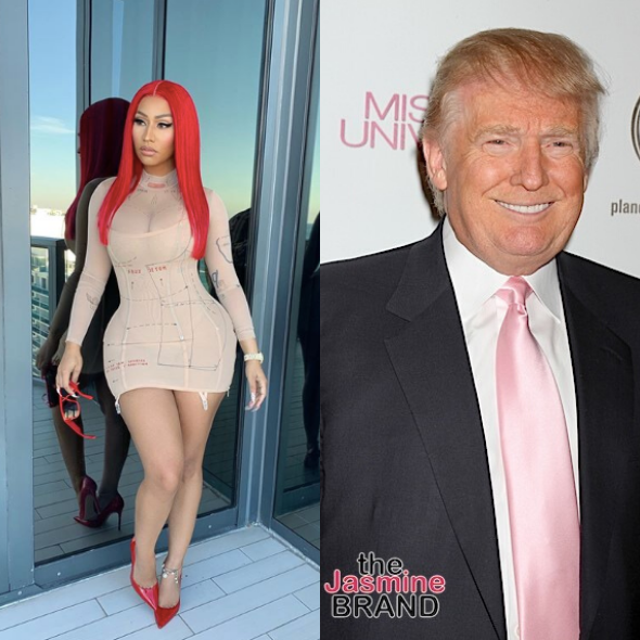 Nicki Minaj Tweets That Donald Trump Will Win 2020 Campaign Because 'Democrats Will Continue To Beat Up On Each Other'