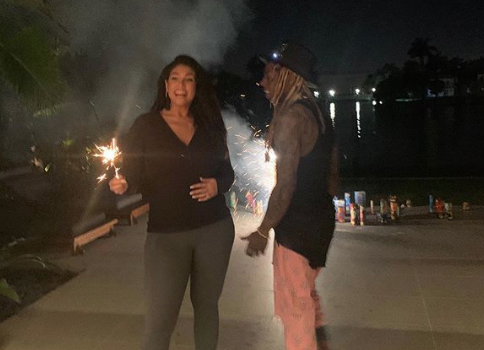 Lil Wayne's Rumored Fiancée La'Tecia Thomas Posts Him For 1st Time [Photos]