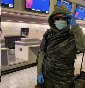 Summer Walker Wears Mask & Garbage Bag To Avoid Coronavirus At Airport [Photo]