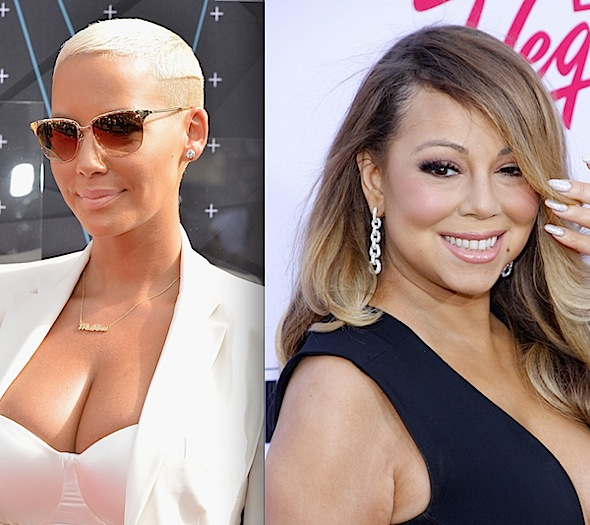 Amber Rose Jokingly Refers To Herself As A Hoe In Picture w/ Mariah Carey