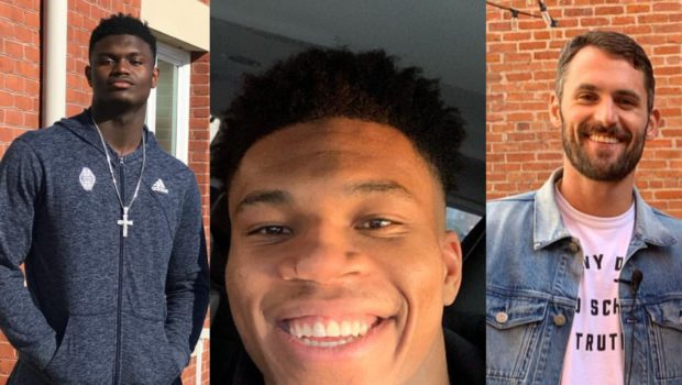 NBA Players Kevin Love, Zion Williamson & MVP Giannis Antetokounmpo Offer To Pay Arena Workers Amid Suspended Season