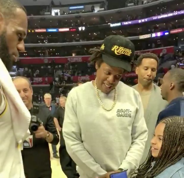 Jay Z's Daughter Blue Ivy Carter Has A Sweet Moment With LeBron James, As She Asks For Signed Basketball [VIDEO]