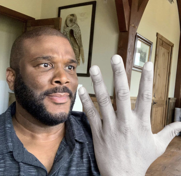 Tyler Perry Shares 'Ashy' Selfie After Constantly Washing Hands Amid Coronavirus Pandemic