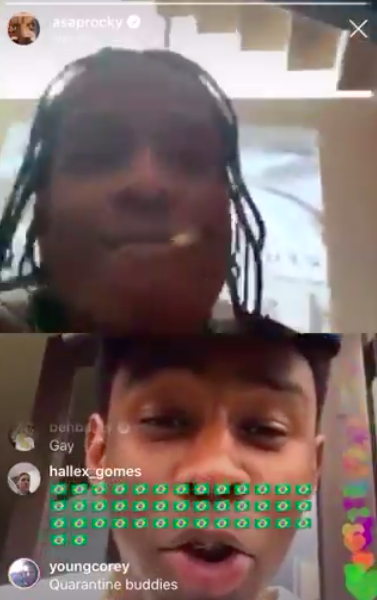 A$AP Rocky Abruptly Ends IG Live w/ Tyler The Creator After Tyler Flirts w/ Him: I'll Play Something If You Show Me What You're Wearing [WATCH]