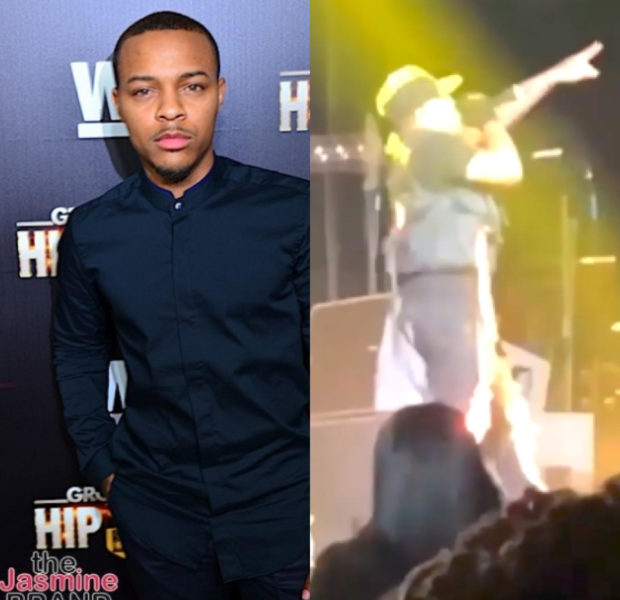 "Bow Wow Falls Into Stage During Performance, 50 Cent Tells Him To ""Stay Home!"""