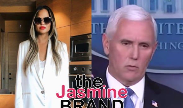 Chrissy Teigen On Mike Pence Saying Getting Coronavirus Test Was 'Invasive': My Vagina Was Ripped To My A**hole Giving Birth, F*** Your Swab Pain!