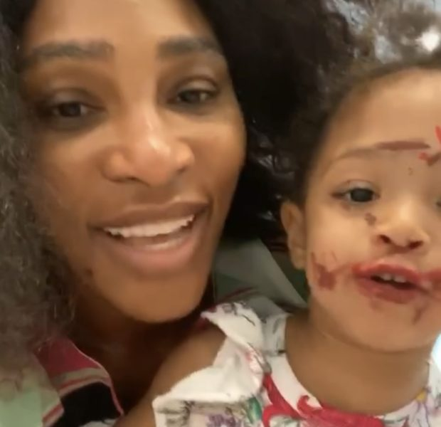 "Serena Williams' 2-Year-Old Daughter Does Her Own Make-Up, Tells Camera: ""I'm Cute!"""