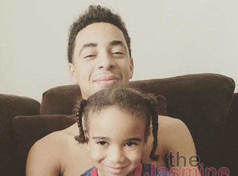 Solange's Teenage Son Julez Poses With His Baby Brother On His Father's Side