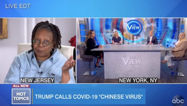 """Whoopi Goldberg Co-Hosts """"The View"""" From Home Amid Coronavirus Outbreak"""