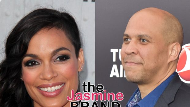 Cory Booker Jokes That Rosario Dawson Isn't Getting A Diamond Ring This Christmas: Not From Me, No
