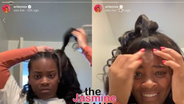 Ari Lennox Hilariously Struggles To Put On A Lacefront Wig [VIDEO]