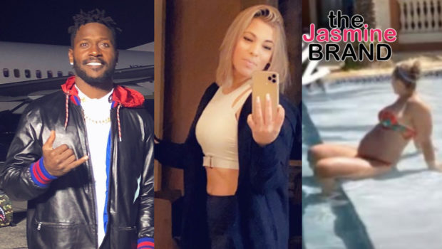 Ex NFL Star Antonio Brown Reveals Fiancée Chelsie's Baby Bump