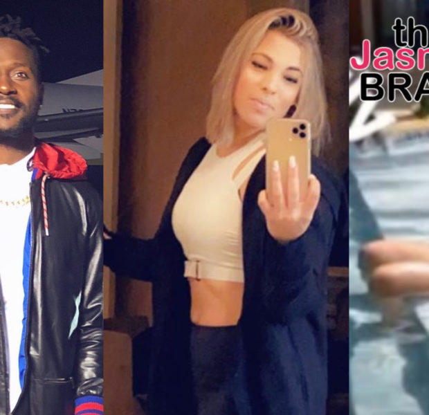 Ex NFL Star Antonio Brown Reveals Fiancée Chelsie's Baby Bump