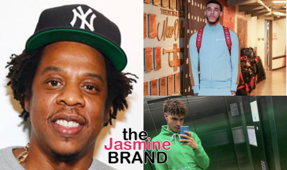Jay-Z's Roc Nation Sports Officially Welcomes Lonzo, LaMelo & LiAngelo Ball To Roster