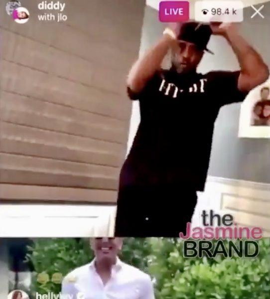 Diddy Reunites With Ex J.Lo, Drake Displays His Toosie Slide + Draya Michele & Lizzo Twerk During His Dance-A-Thon [VIDEO]