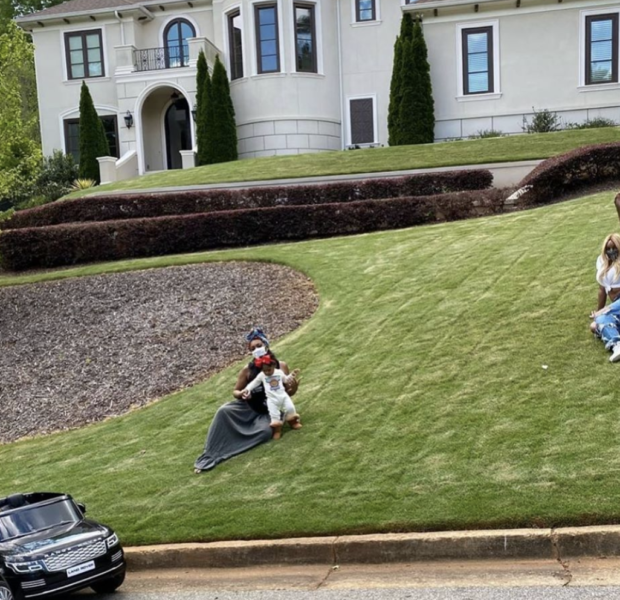 Nene Leakes, Porsha Williams & Baby PJ Hang Out On Nene's Lawn While Social Distancing