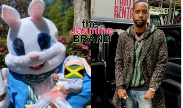 Safaree Samuels Dresses As Bunny For Daughter's First Easter, Still Hides Her Face