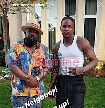 YG, Magic Johnson, Anthony Anderson & Garcelle Spotted At Cedric The Entertainer's Drive By Birthday Party [VIDEO]