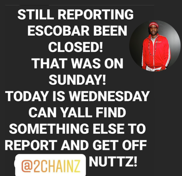 2 Chainz Wants Reports Of His Restaurant Being Shut Down To End ASAP!